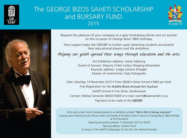 George Bizos Invite