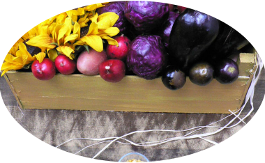 Zhoozsh Book Launch Charity Dinner, vegetable flower table decorations