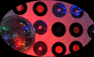 glam disco theme, house party, mirror ball