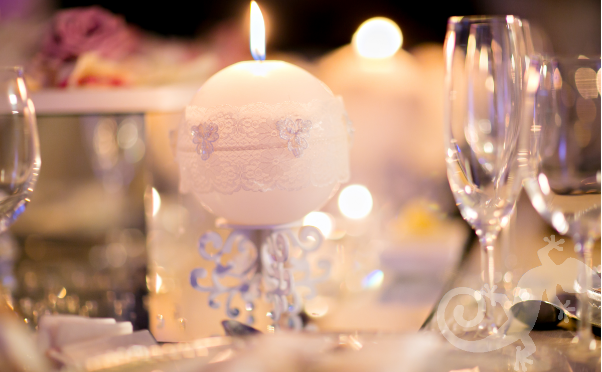 I do...first wedding portfolio,candles, crystal and lace