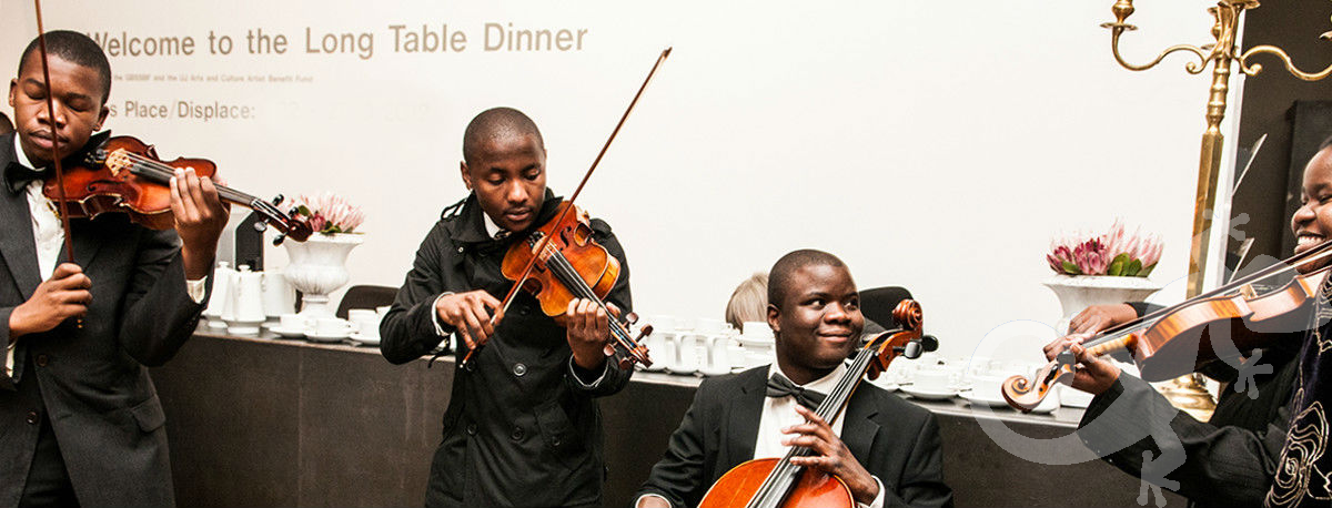 Long Table Dinner, George Bizos Fund, youth orchestra, elegant dining experience