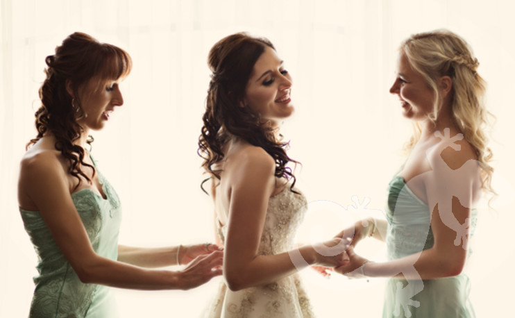 Bride,  Can you feel it?  bridesmaids