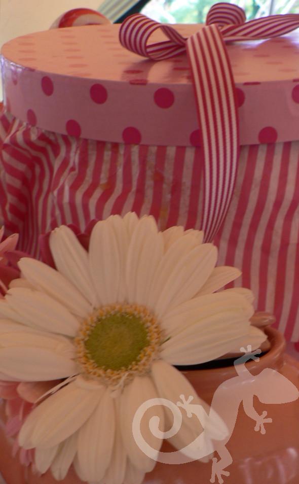 Alice in Wonderland, hat boxes, daisies