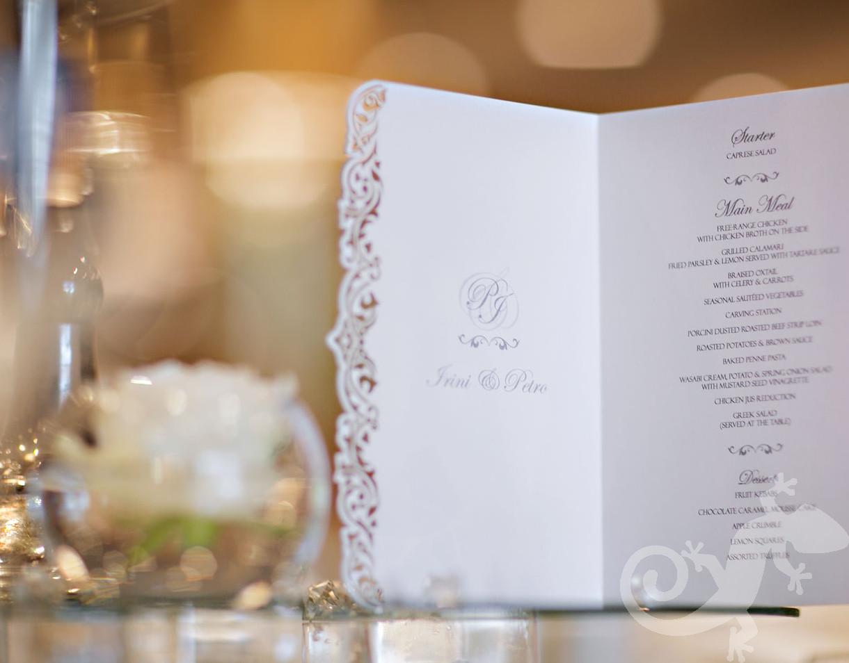 Wedding I do, menu