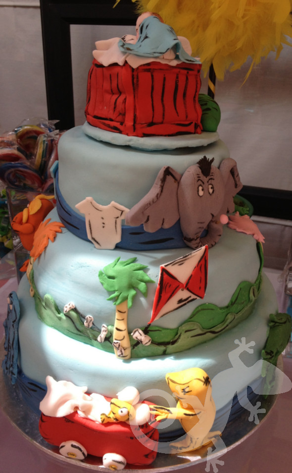 Cat in the Hat, Baby Shower Cake