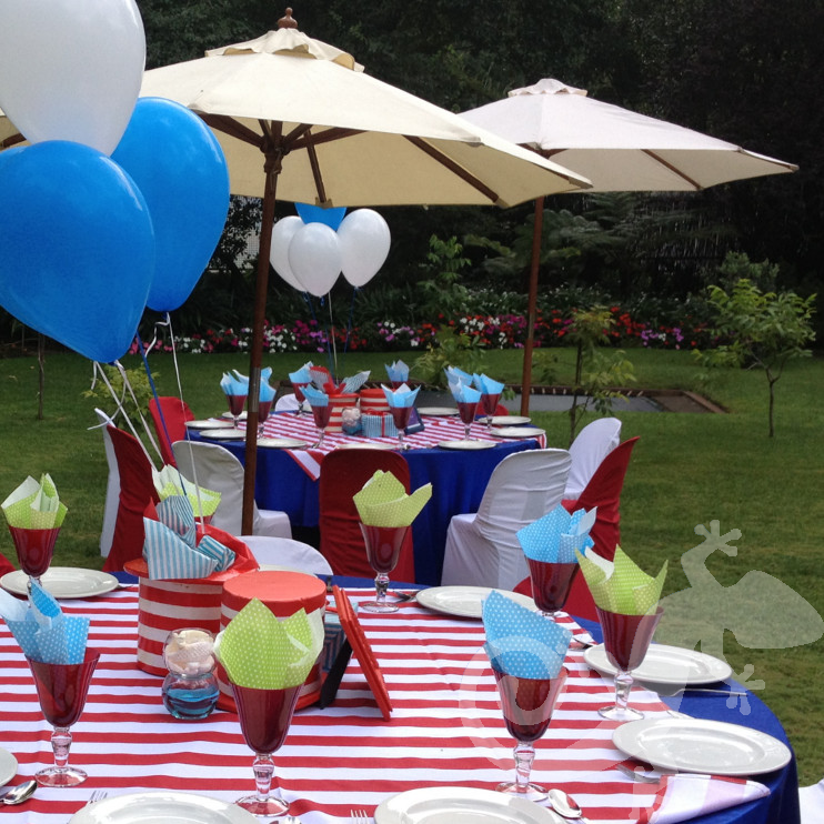 Cat in the Hat, Baby Shower, garden setting