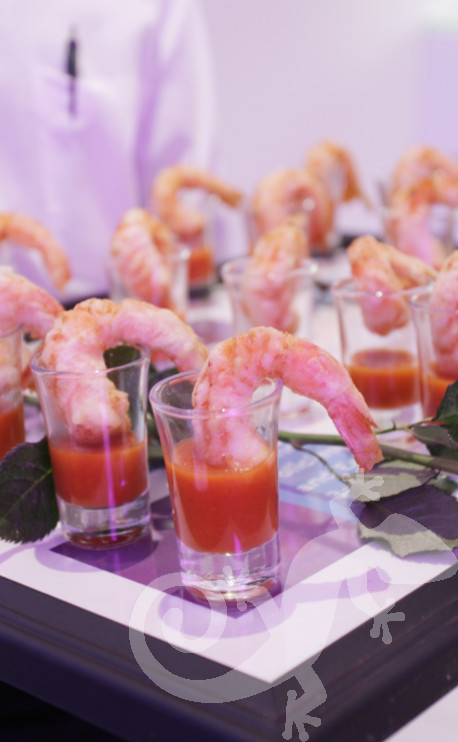 Corporate events, Cocktail Party, sumptious prawn starter