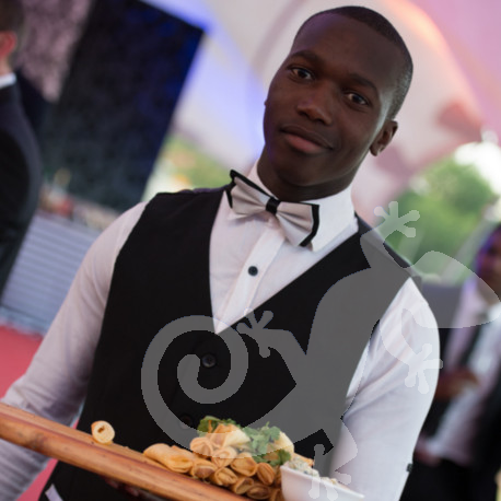 Top achievers, black tie waiters, corporate