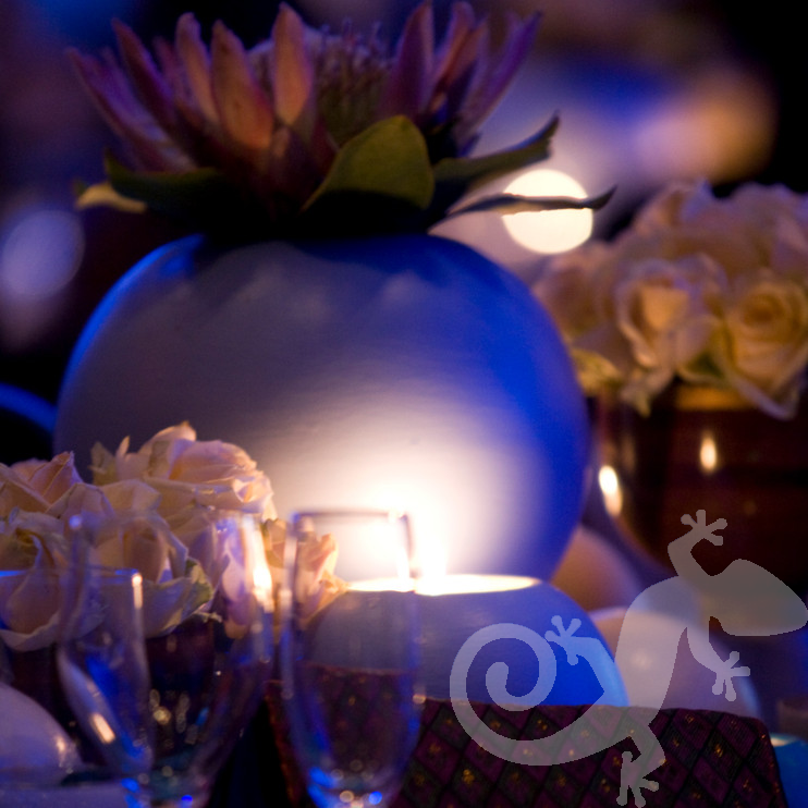 80th Birthday Event George Bizos Nelson Mandela table decor protea