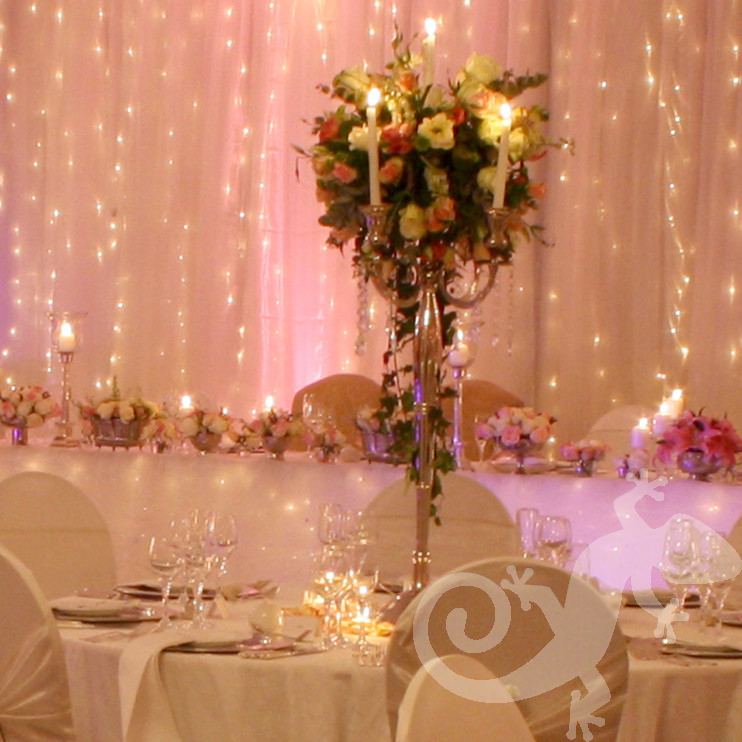 I do... wedding reception, centrepiece, candles, formal arrangement