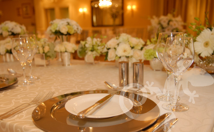 Classical tablesetting, place setting detail