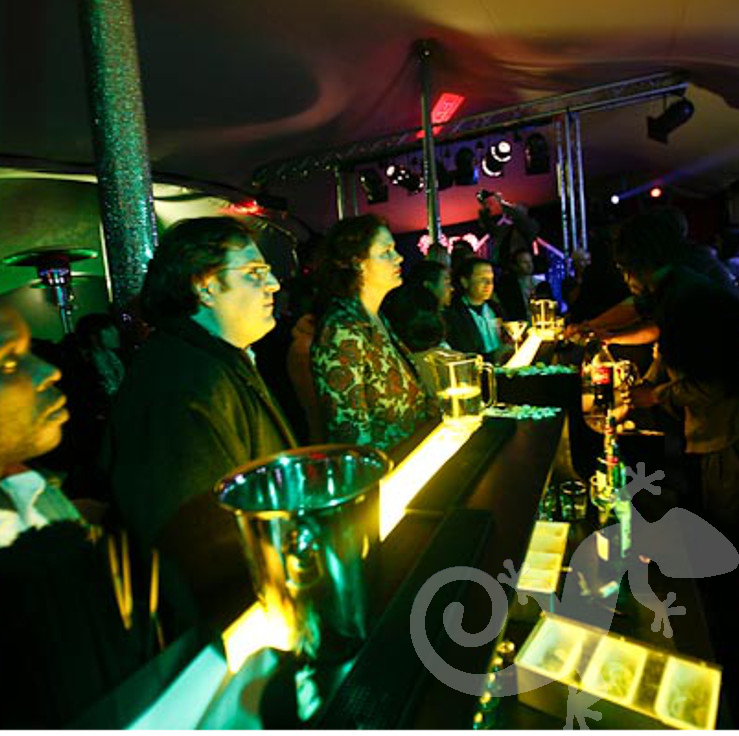 product launch, pop-up bar