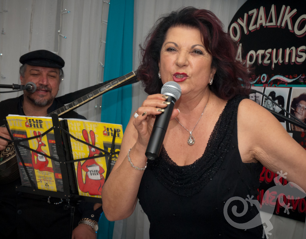 Greek Taverna party, entertainment, singing, birthday celebration