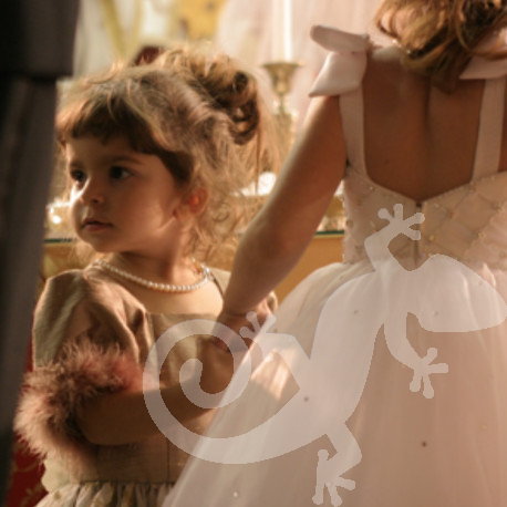 Bride, the big day, Can you feel it? flower girl
