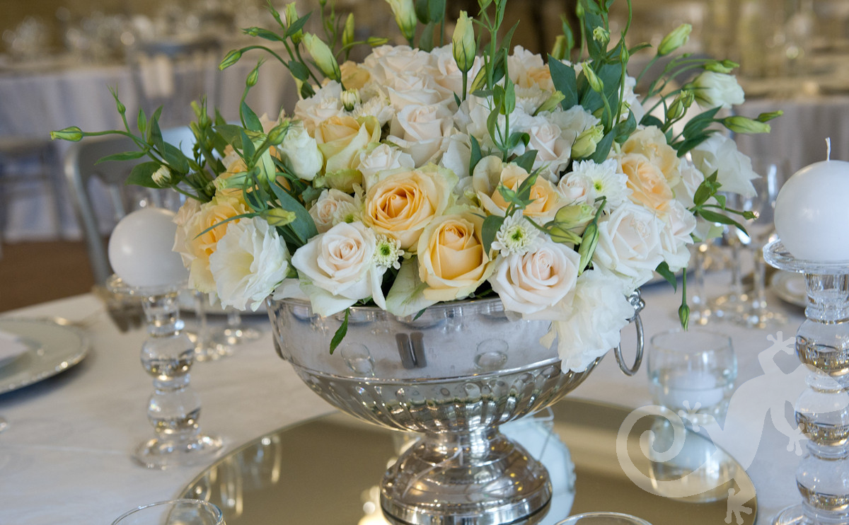 Elegant, bridal centrepieces, Salamander inspired events