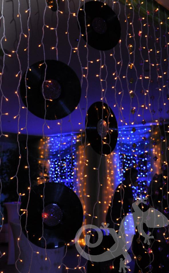 Glam disco theme, decor detail