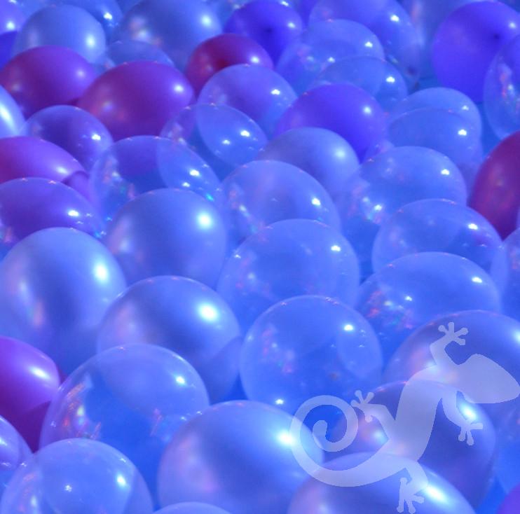 glam disco, house party, balloon pool