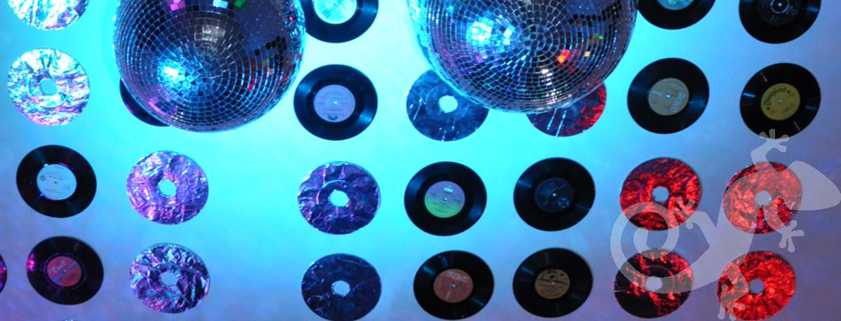 glam disco theme, house party