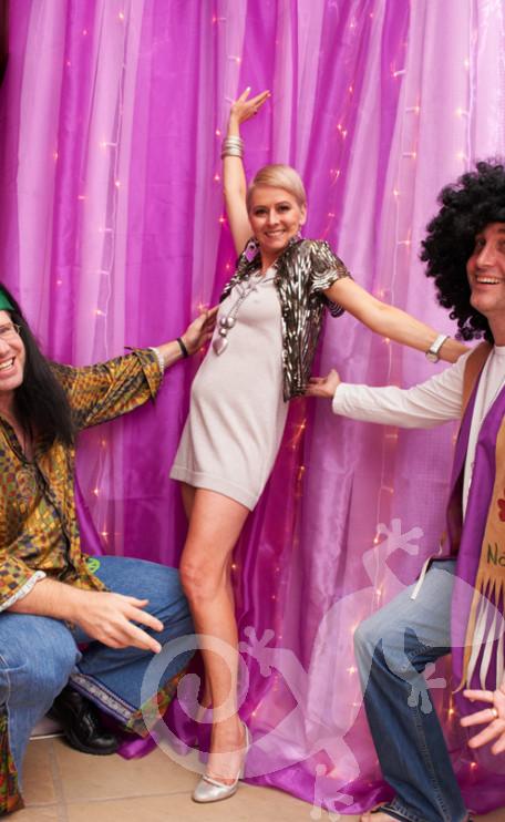 disco theme, glam guests, birthday celebration