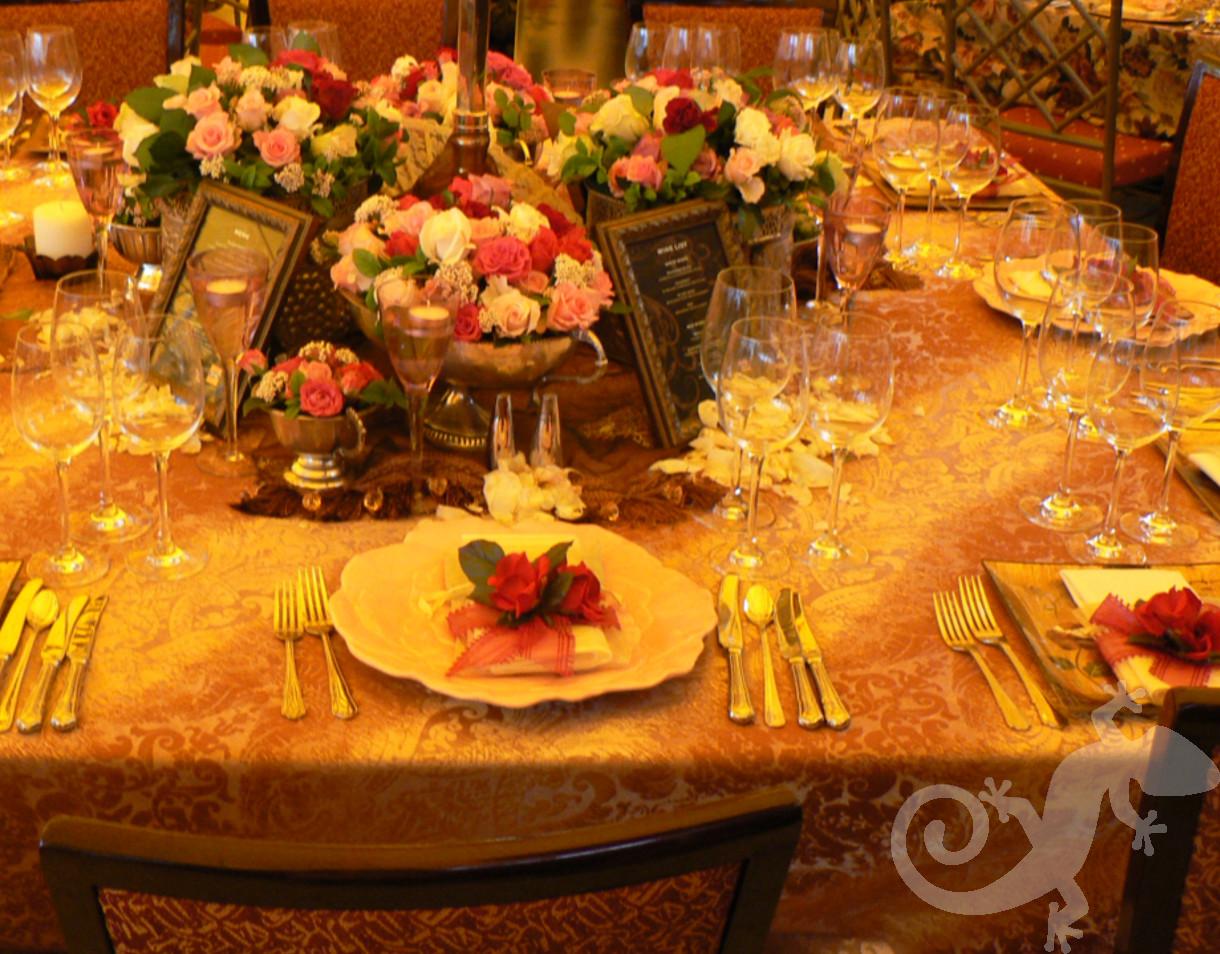 Latin Rhythm, Gala event, brocade, floral base plate