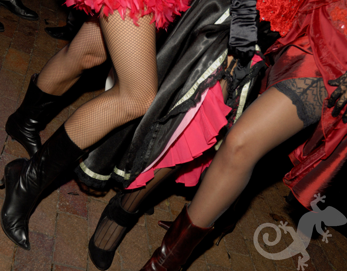 Can-can gals at the Moulin rouge, theme evening