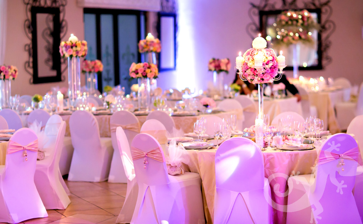 Soft pink roses, chic and stylish, table setting design