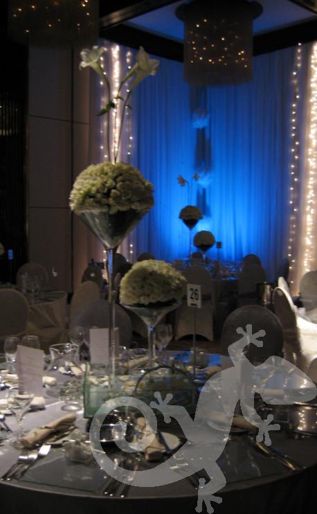 Glorious modern wedding centrepieces